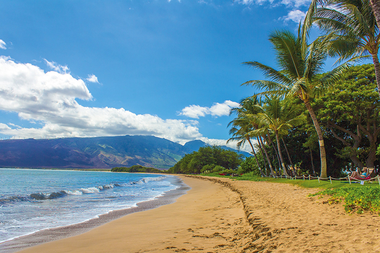 Spiaggia tropicale a Maui